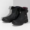 Dámská kožená zimní obuv s prošitím weinbrenner, černá, 596-6751 - 16