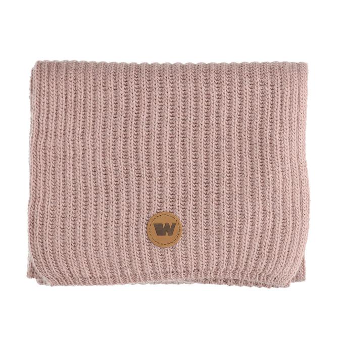 Růžová šála s hnědým detailem weinbrenner, růžová, 909-5730 - 13