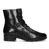 Dámská kožená kotníčková obuv s vysokým šněrováním hogl, černá, 524-6064 - 19