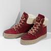 Kožená vínová dámská kotníčková obuv weinbrenner, červená, 596-5756 - 16