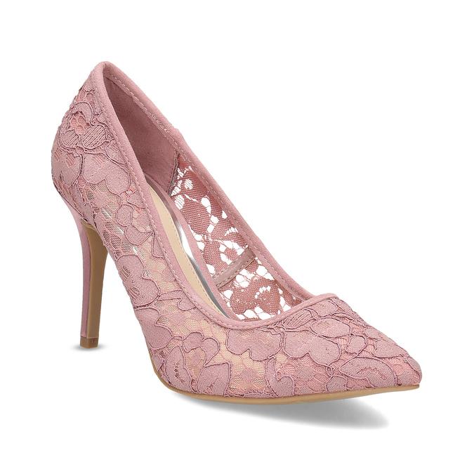 Bata Red Label Růžové krajkové lodičky do špičky - Všechny boty ... e770cba268