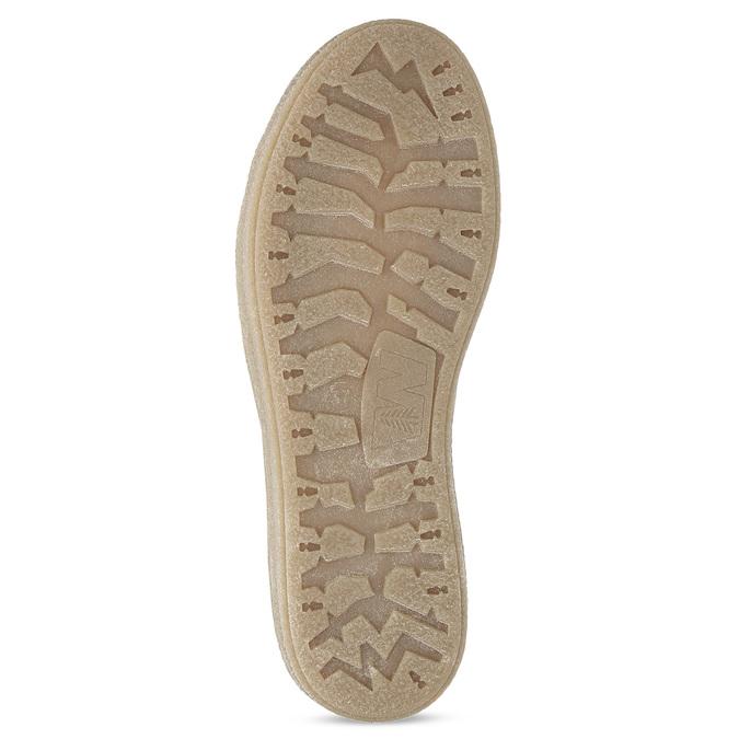 Kožená kotníčková zimní obuv s kožíškem weinbrenner, béžová, 596-8730 - 18