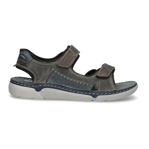 Kožené pánské sandály se suchými zipy béžové weinbrenner, hnědá, 866-2644 - 19