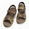 Kožené pánské sandály černo-modré weinbrenner, hnědá, 866-4643 - 16