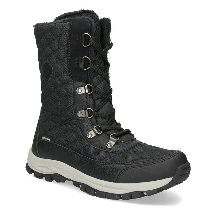 Dámské zimní prošívané sněhule bata, černá, 599-6623 - 13