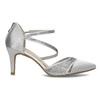 Stříbrné dámské sandály na jehlovém podpatku insolia, stříbrná, 729-1634 - 19