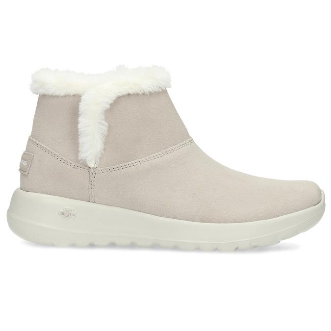 Kožená zimní obuv s kožíškem béžová skechers, béžová, 503-8124 - 19