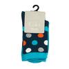 Dětské modré vysoké ponožky s puntíky bata, modrá, 919-9686 - 13