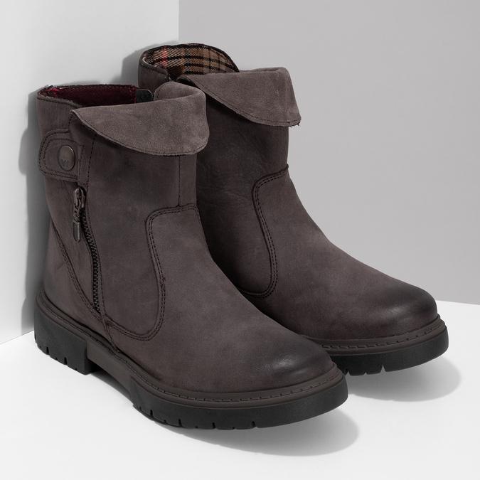 Kožená hnědá dámská obuv weinbrenner, hnědá, 596-4759 - 26