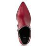 Červené kotníčkové kozačky v Chelsea stylu bata, červená, 794-5609 - 17