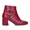Červené kožené kotníčkové kozačky s přezkou bata, červená, 794-5608 - 19