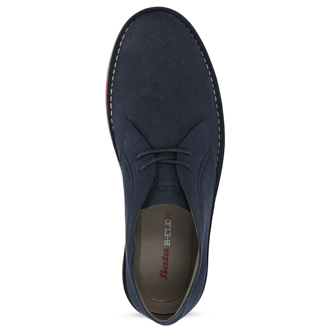 Modrá pánská ležérní kotníčková obuv bata-b-flex, modrá, 899-9600 - 17