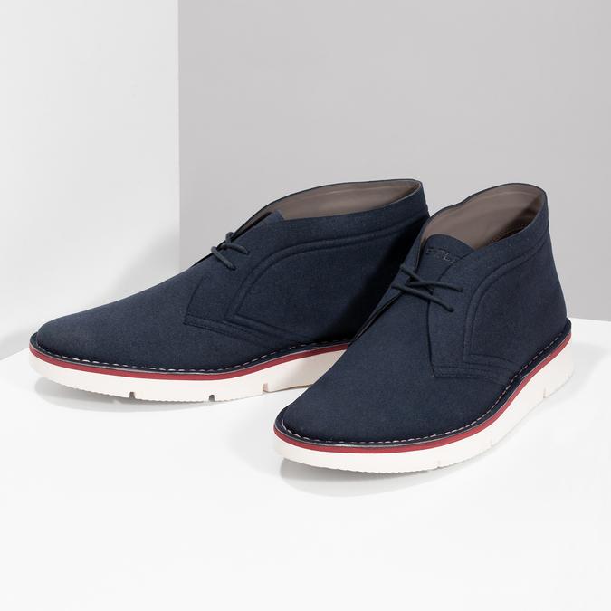 Modrá pánská ležérní kotníčková obuv bata-b-flex, modrá, 899-9600 - 16