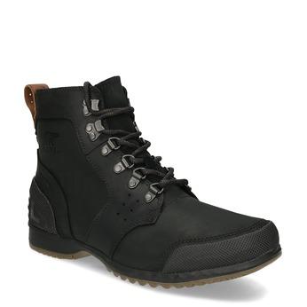 Pánská černá kotníková obuv sorel, černá, 826-6025 - 13