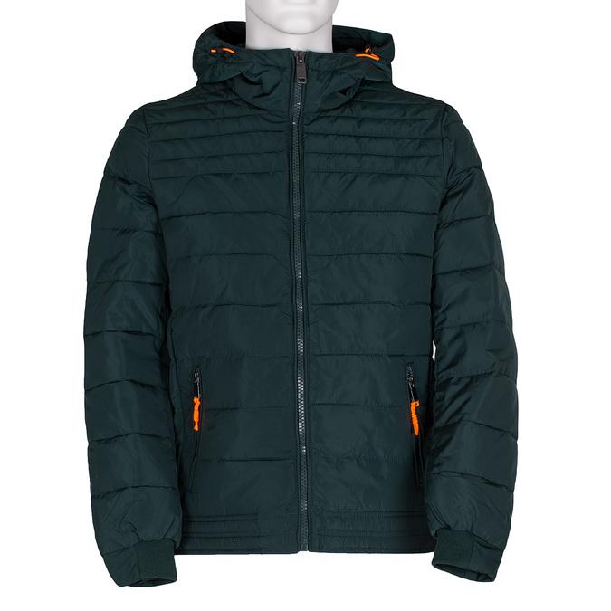 Zelená pánská bunda s prošitím bata, zelená, 979-7430 - 13