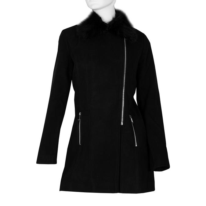 Dámský dlouhý černý kabát bata, černá, 979-6343 - 13