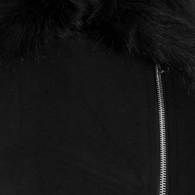 Dámský dlouhý černý kabát bata, černá, 979-6343 - 16