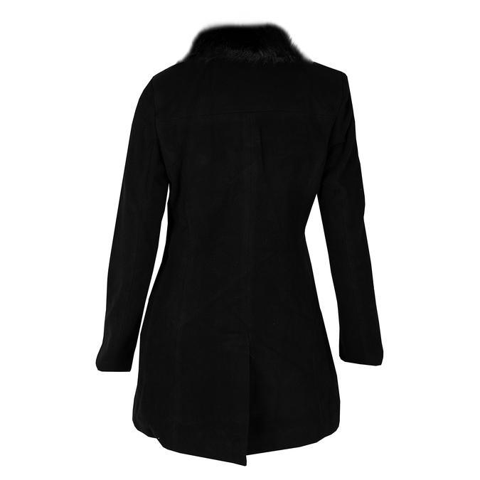 Dámský dlouhý černý kabát bata, černá, 979-6343 - 26