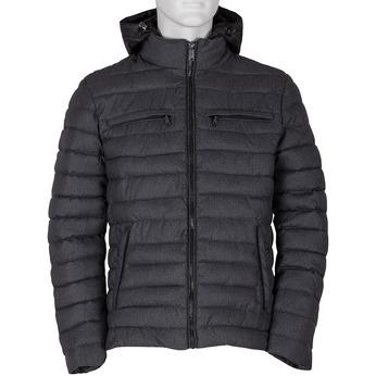 Šedá pánská bunda s kapucí a kapsami bata, šedá, 979-2402 - 13