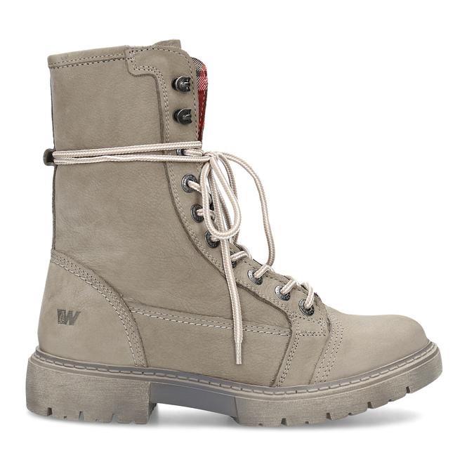 Béžová kožená dámská obuv vysoká weinbrenner, béžová, 596-8746 - 19