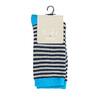 Dětské pruhované ponožky bata, modrá, 919-9688 - 13