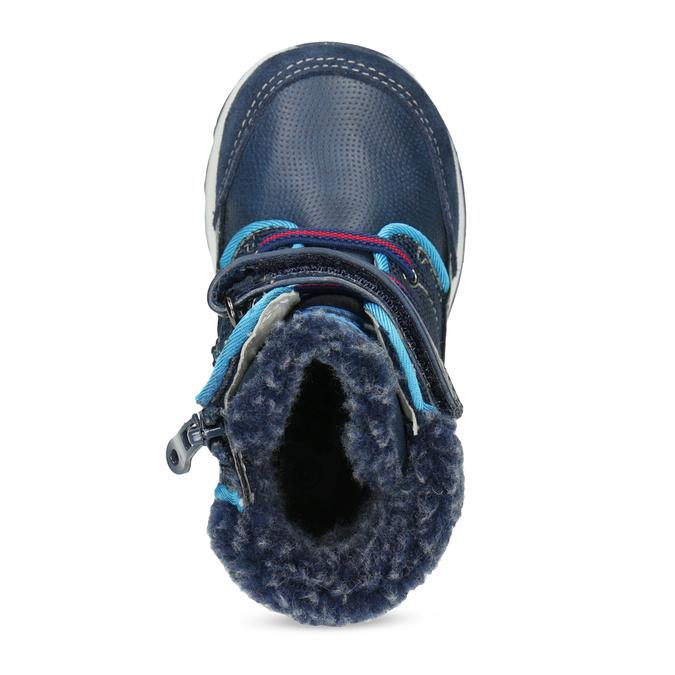 Modrá dětská zimní obuv se zateplením bubblegummers, modrá, 191-9616 - 17