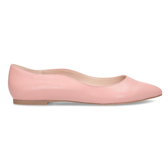 Dámské baleríny do špičky růžové bata-red-label, růžová, 521-5644 - 19