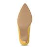 Žluté dámské lodičky na jehlovém podpatku bata-red-label, žlutá, 729-8637 - 18