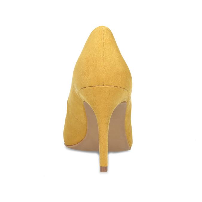 Žluté dámské lodičky na jehlovém podpatku bata-red-label, žlutá, 729-8637 - 15