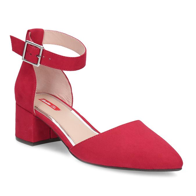6713d6ceb043 Bata Red Label Červené dámské lodičky na nízkém podpatku - Nízký ...