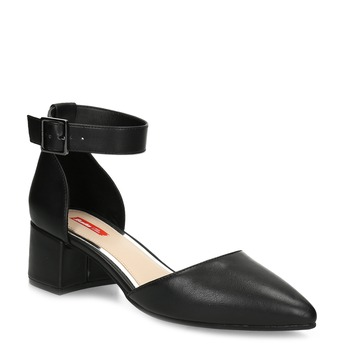 Černé dámské lodičky na nízkém podpatku bata-red-label, černá, 621-6654 - 13