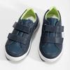 Dětské kožené modré tenisky s perforací mini-b, modrá, 214-9610 - 16