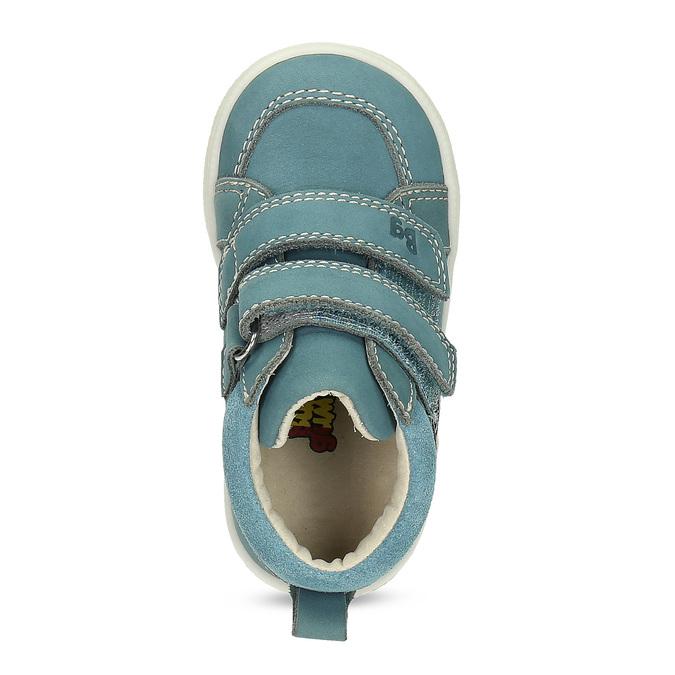 Dětské modré tenisky z broušené kůže bubblegummers, modrá, 116-9634 - 17