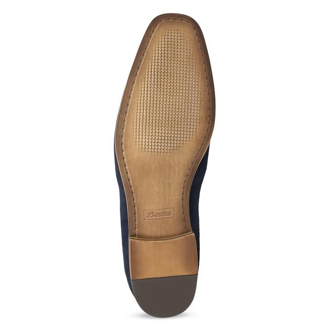 Modré mokasíny z broušené kůže bata, modrá, 813-9600 - 18