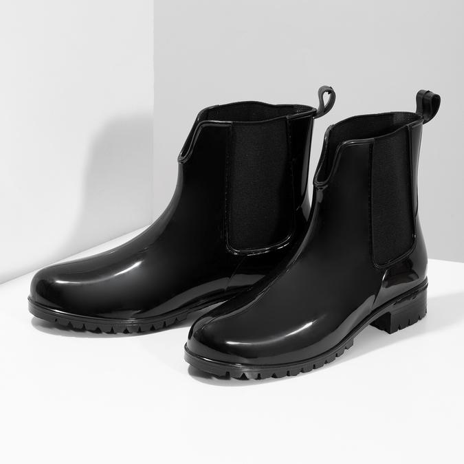 Dámské černé kotníčkové holínky bata, černá, 592-6612 - 16
