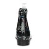Dámské kotníčkové holínky s květinovým vzorem bata, černá, 592-6610 - 15