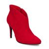 Červené dámské kotníčkové kozačky na podpatku bata-red-label, červená, 799-5646 - 13