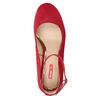 Červené dámské lodičky na stabilním podpatku bata-red-label, červená, 729-5635 - 17