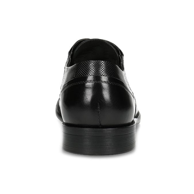 Pánské černé polobotky kožené s perforací bata, černá, 824-6722 - 15