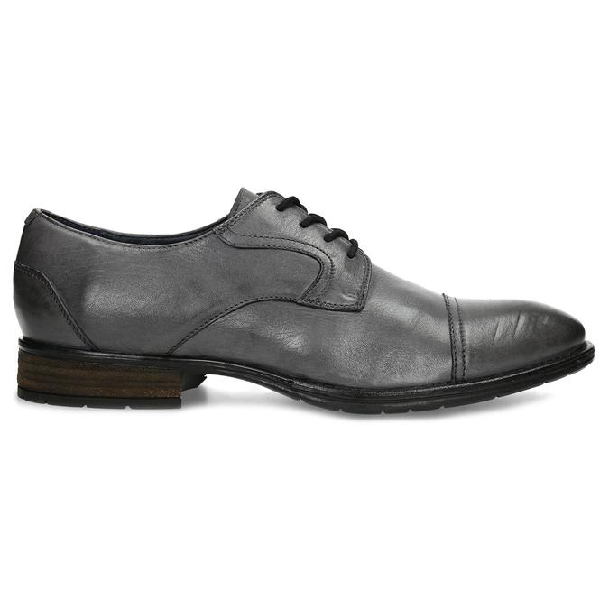 Šedé kožené pánské polobotky bata, šedá, 826-2862 - 19