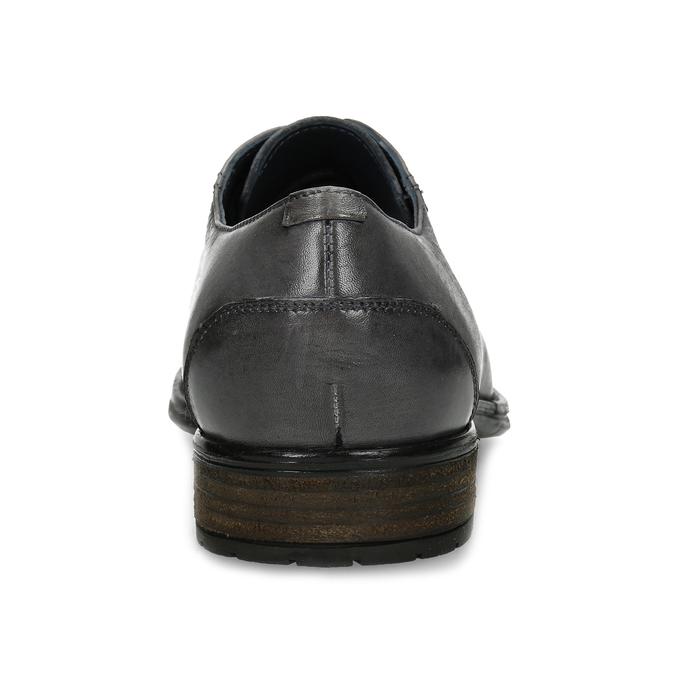 Šedé kožené pánské polobotky bata, šedá, 826-2862 - 15
