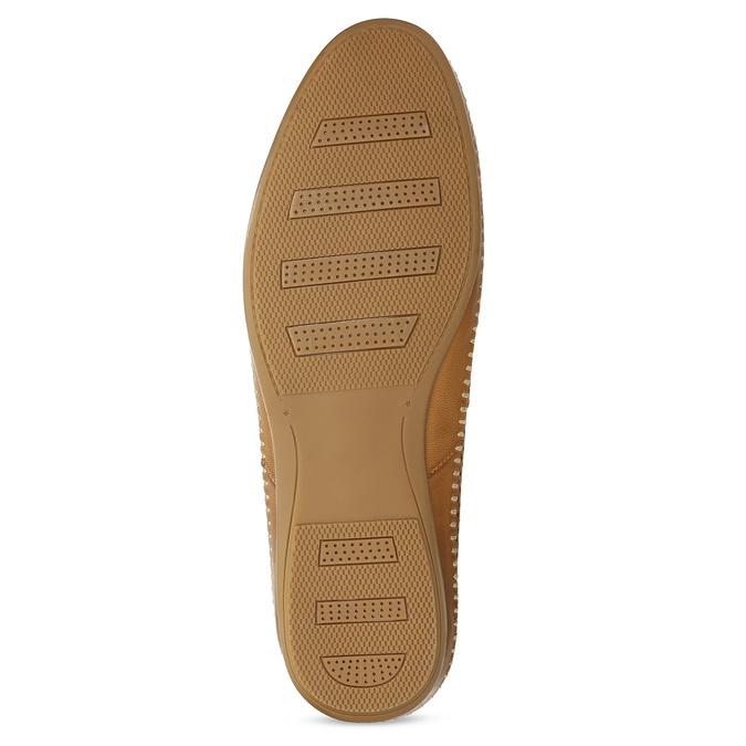 Kožené hnědé pánské Loafers bata, hnědá, 836-3627 - 18