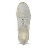 Dámské kožené polobotky s perforací flexible, šedá, 523-2605 - 17