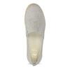 Kožená dámská Slip-on obuv s perforací flexible, šedá, 513-9609 - 17