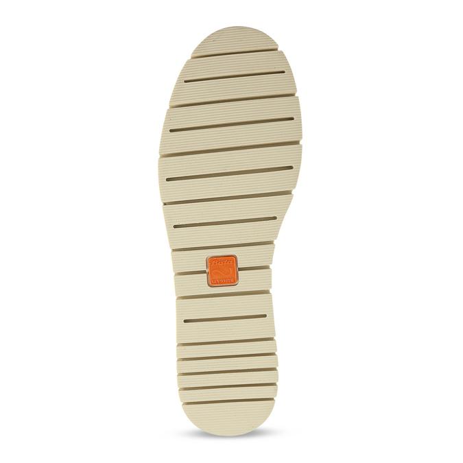 Dámské kožené polobotky s perforací flexible, šedá, 523-2605 - 18