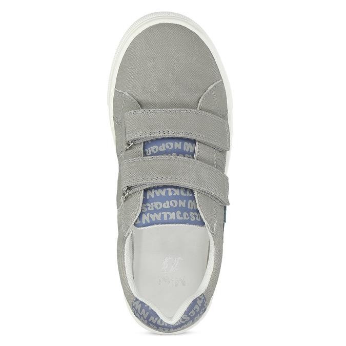 Chlapecké tenisky šedé na suchý zip mini-b, šedá, 411-2615 - 17