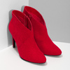 Červené dámské kotníčkové kozačky na podpatku bata-red-label, červená, 799-5646 - 26
