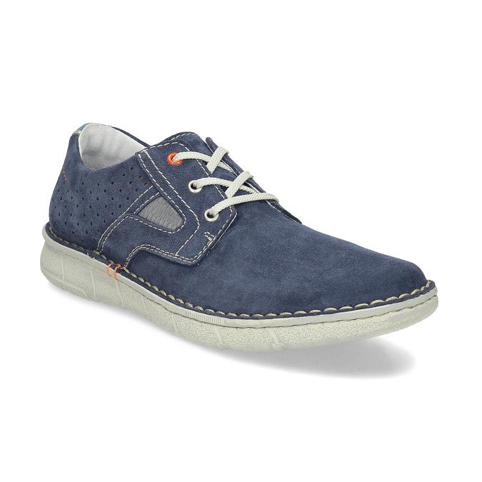 Modré pánské tenisky z broušené kůže bata, modrá, 823-9640 - 13