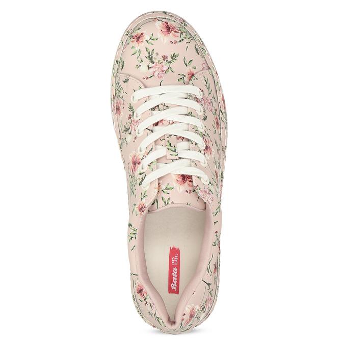 Květované dámské tenisky růžové bata-red-label, růžová, 541-5606 - 17