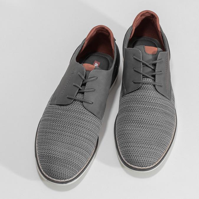 Pánské ležérní šedé Derby polobotky bata-red-label, šedá, 821-2608 - 16